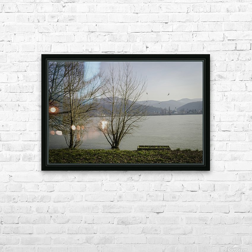 Spring at the River  HD Sublimation Metal print with Decorating Float Frame (BOX)