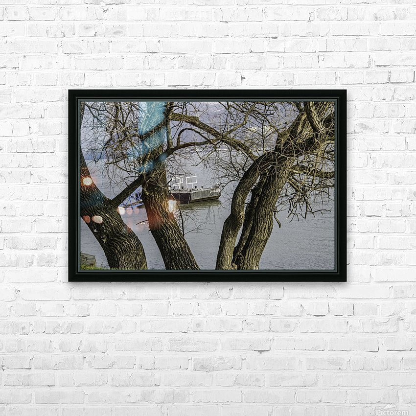 Looking Through HD Sublimation Metal print with Decorating Float Frame (BOX)