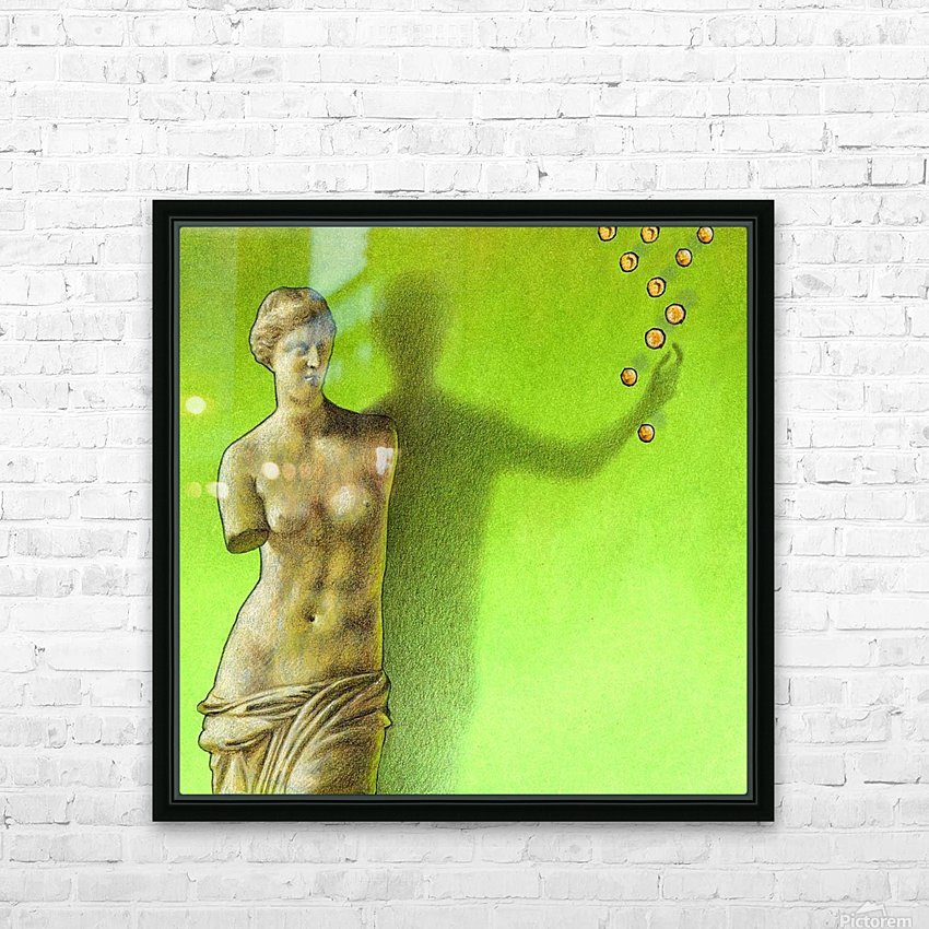Grece HD Sublimation Metal print with Decorating Float Frame (BOX)