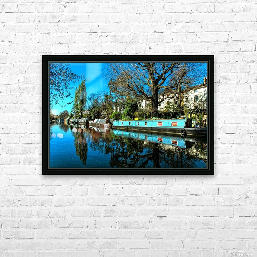 River and Boats - London  HD Sublimation Metal print with Decorating Float Frame (BOX)
