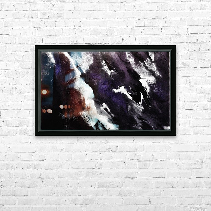 Odyssey Abstract Artwork HD Sublimation Metal print with Decorating Float Frame (BOX)