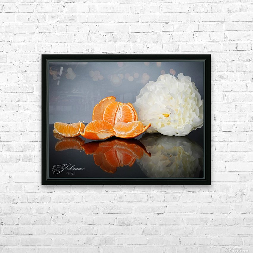 Orange sparkle  HD Sublimation Metal print with Decorating Float Frame (BOX)