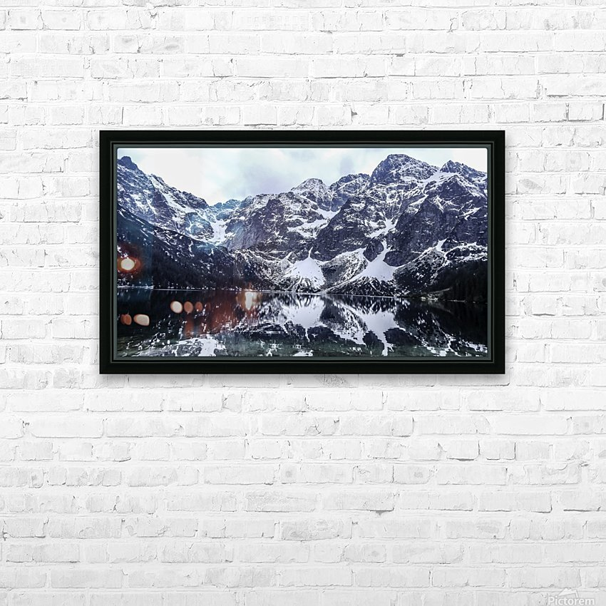 Mountains in the Lake HD Sublimation Metal print with Decorating Float Frame (BOX)