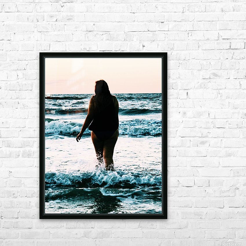 blue sea HD Sublimation Metal print with Decorating Float Frame (BOX)