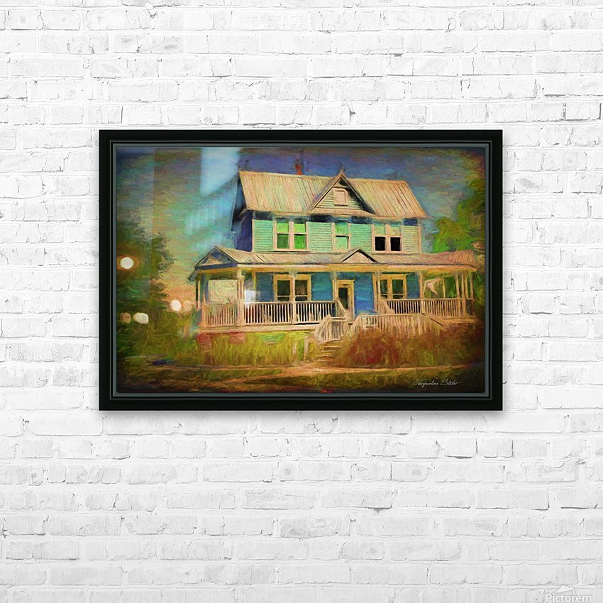 Valentine House Oil HD Sublimation Metal print with Decorating Float Frame (BOX)