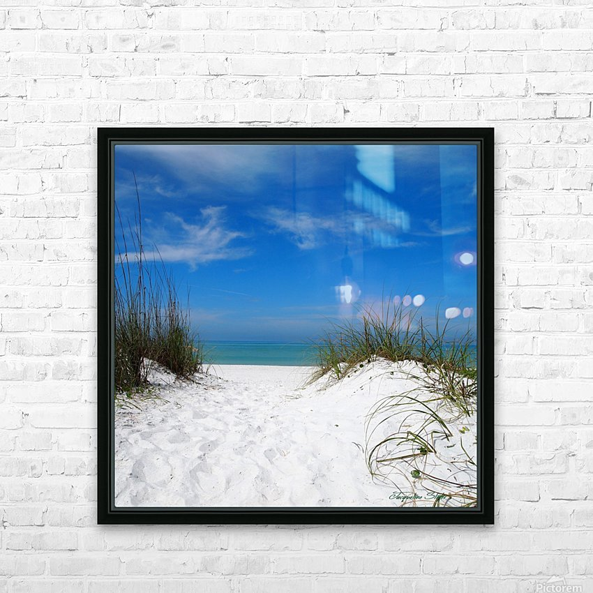 Coquina Dunes HD Sublimation Metal print with Decorating Float Frame (BOX)