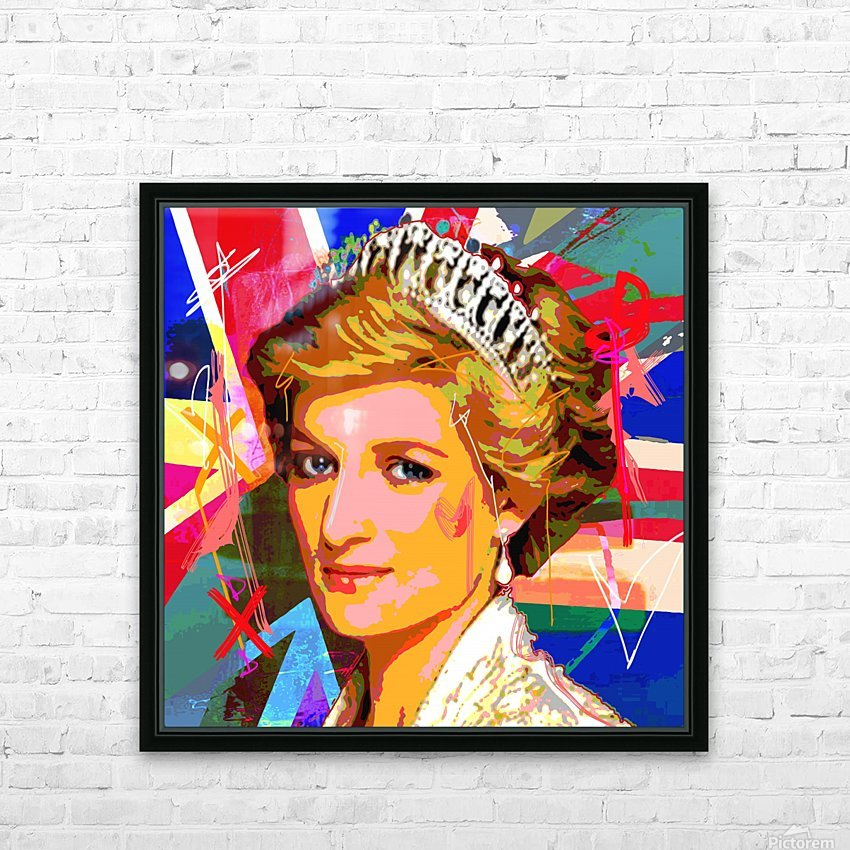 Diana X  HD Sublimation Metal print with Decorating Float Frame (BOX)