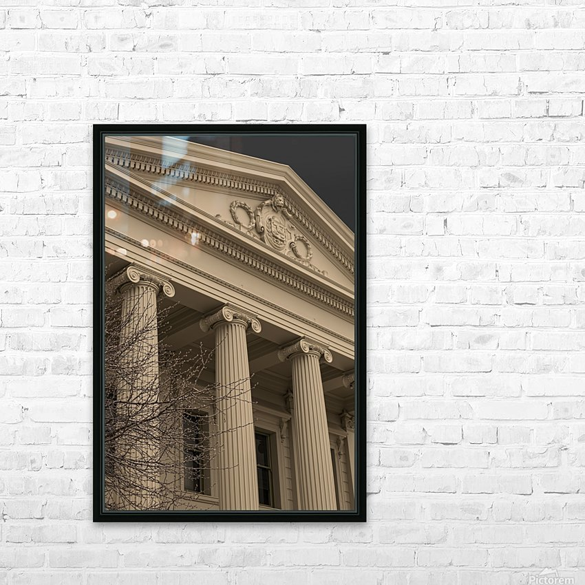 Building with Corinthian Pillars A011201_1419719 HD Sublimation Metal print with Decorating Float Frame (BOX)