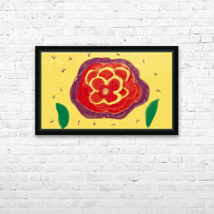 Fire garden HD Sublimation Metal print with Decorating Float Frame (BOX)