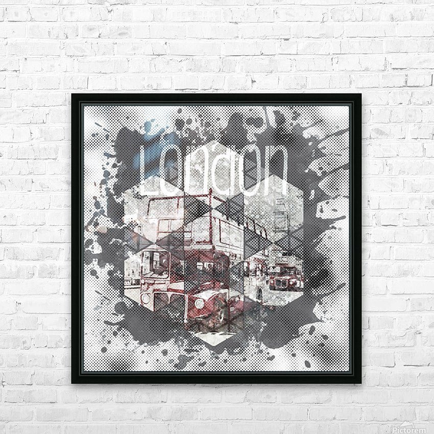 Graphic Art LONDON Streetscene HD Sublimation Metal print with Decorating Float Frame (BOX)