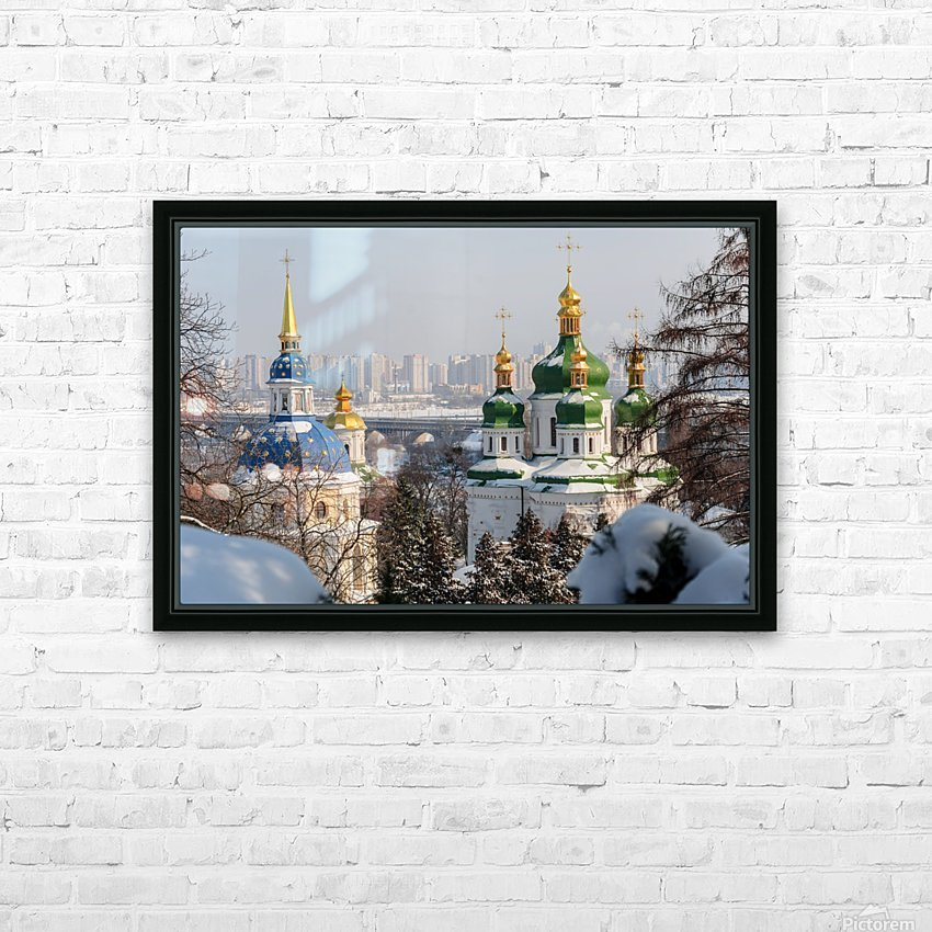 Vydubitskii Monastery in Kyiv HD Sublimation Metal print with Decorating Float Frame (BOX)