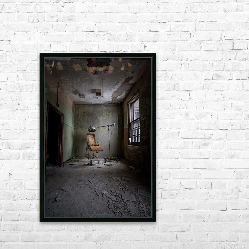 Abandoned Asylum HD Sublimation Metal print with Decorating Float Frame (BOX)