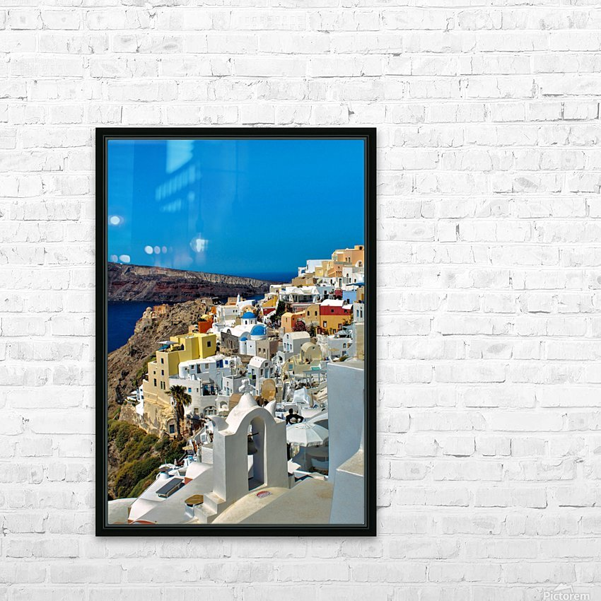 Santorini Colourful  Landscape - Greece HD Sublimation Metal print with Decorating Float Frame (BOX)