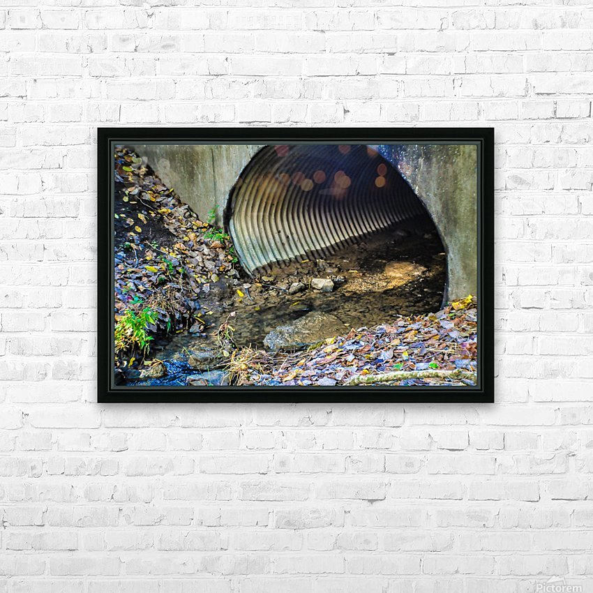 Secret Tunnel HD Sublimation Metal print with Decorating Float Frame (BOX)