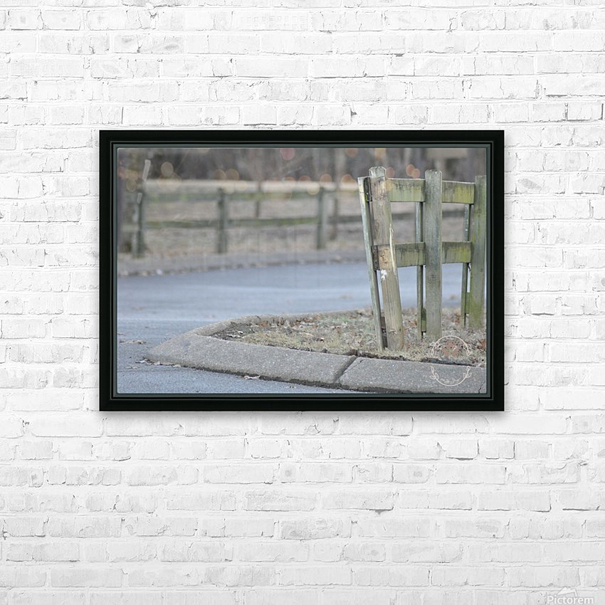 Around the Fence HD Sublimation Metal print with Decorating Float Frame (BOX)