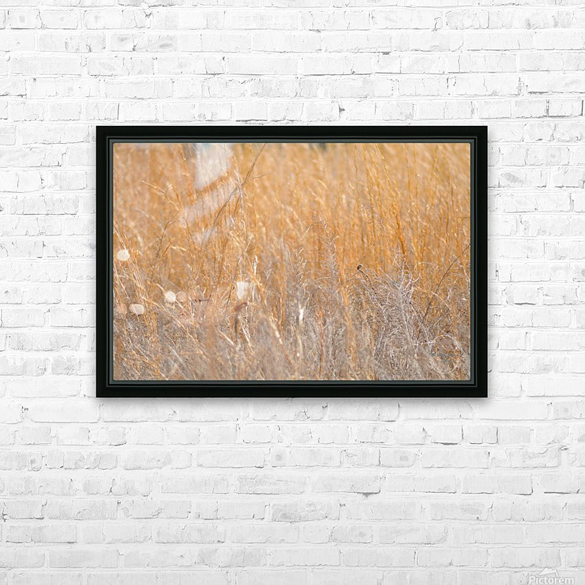 Golden Field HD Sublimation Metal print with Decorating Float Frame (BOX)