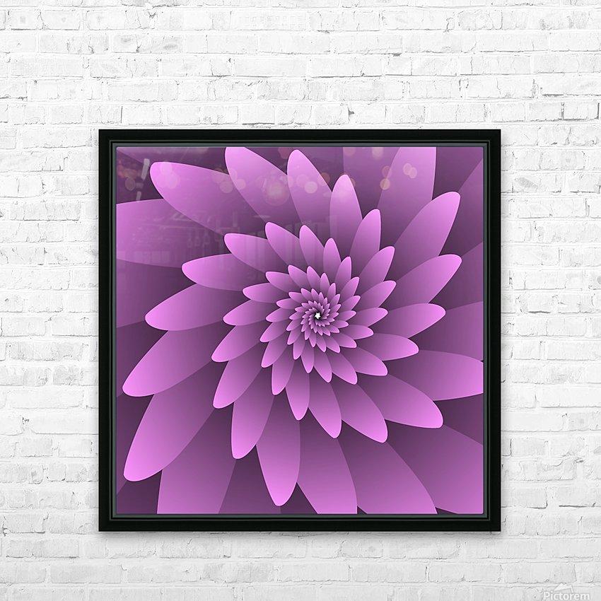 3D Floral Modern Artwork HD Sublimation Metal print with Decorating Float Frame (BOX)