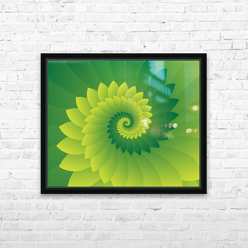 Shiny Greeny Art HD Sublimation Metal print with Decorating Float Frame (BOX)