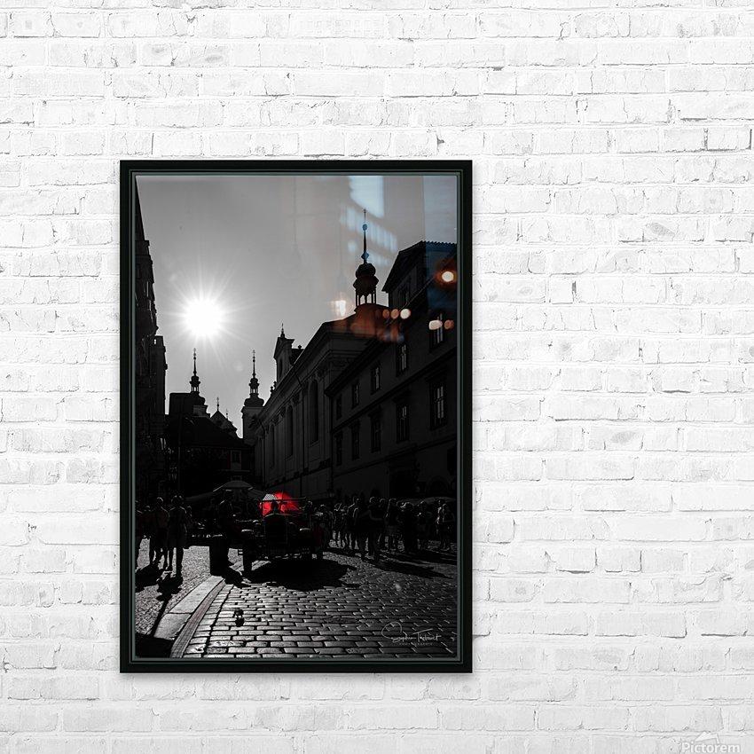 Le parapluie rouge HD Sublimation Metal print with Decorating Float Frame (BOX)