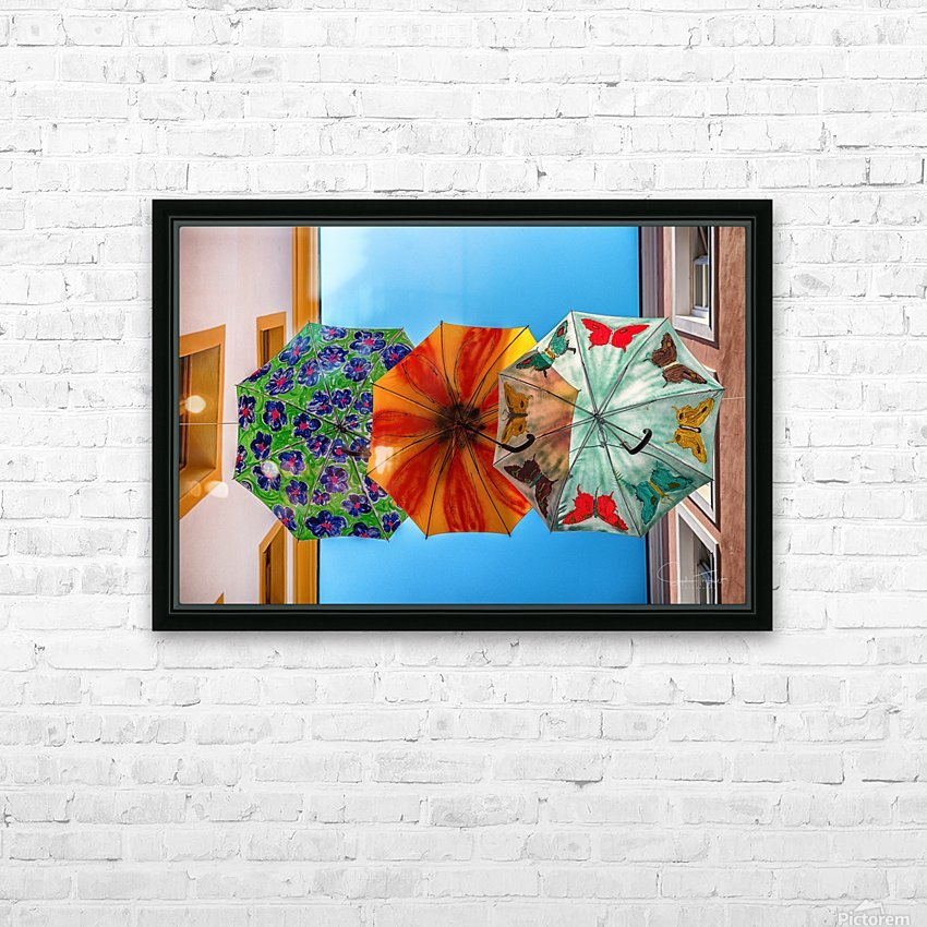 La ruelle des parapluies HD Sublimation Metal print with Decorating Float Frame (BOX)