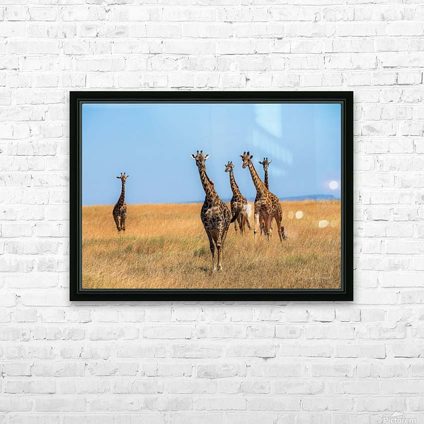 Sortie de famille HD Sublimation Metal print with Decorating Float Frame (BOX)