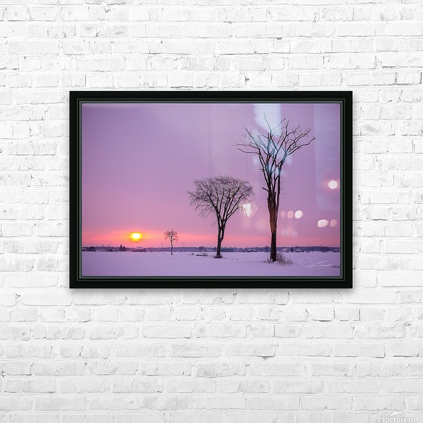 Mirabel mauve HD Sublimation Metal print with Decorating Float Frame (BOX)