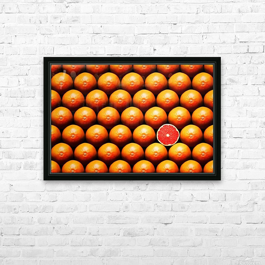 Grapefruit slice between group HD Sublimation Metal print with Decorating Float Frame (BOX)