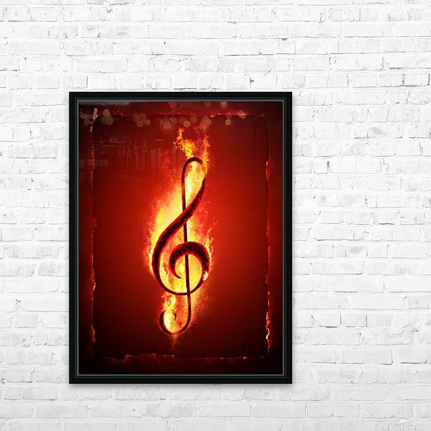 Hot Music HD Sublimation Metal print with Decorating Float Frame (BOX)