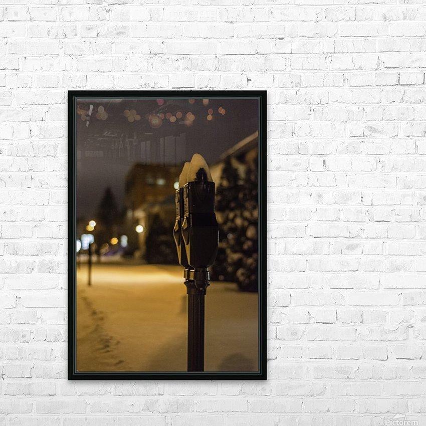 One winter night HD sublimation métal imprimé avec décoration flotteur cadre (boîte)