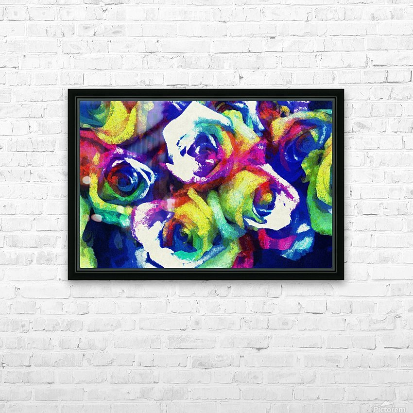 Love Me With Roses HD Sublimation Metal print with Decorating Float Frame (BOX)