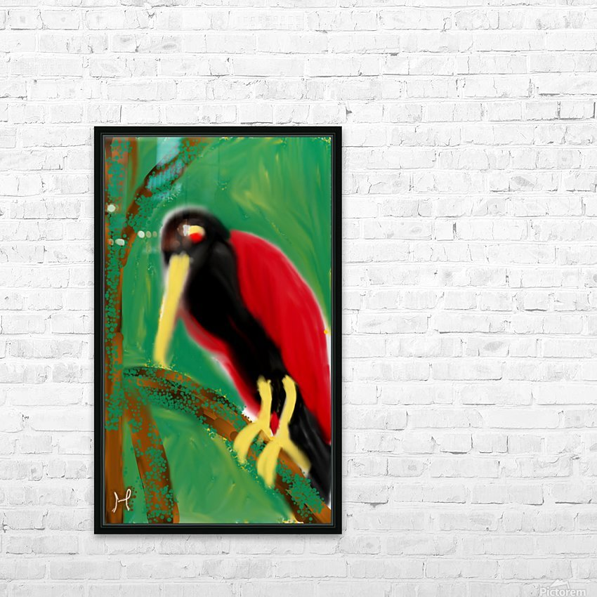 Woodpecker  HD Sublimation Metal print with Decorating Float Frame (BOX)