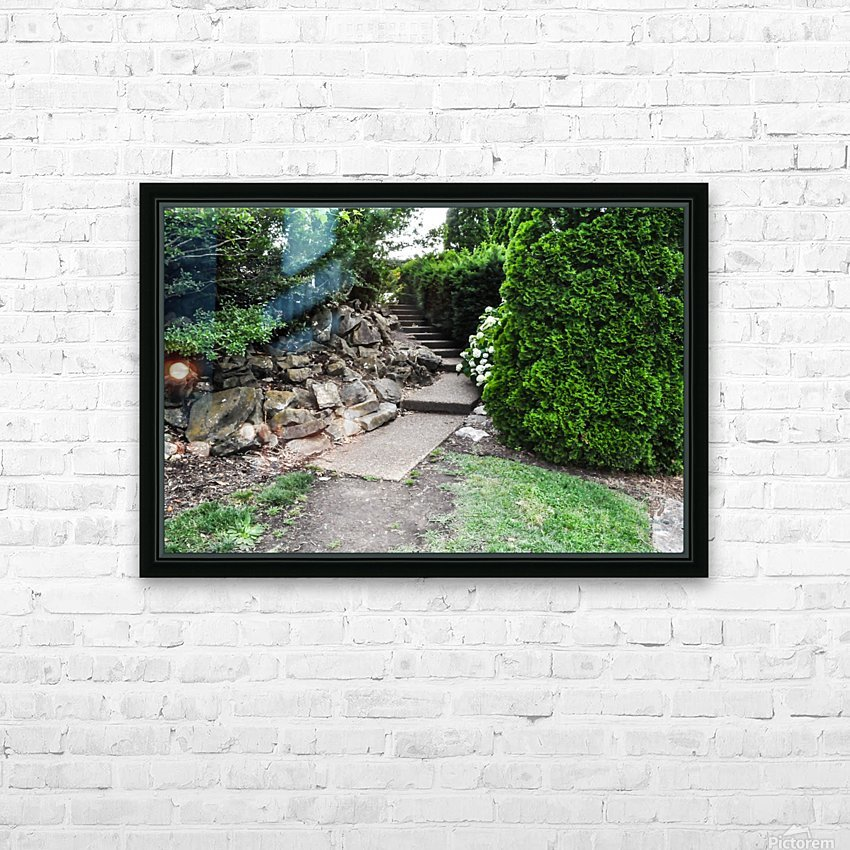 Enchanted Walkway HD Sublimation Metal print with Decorating Float Frame (BOX)