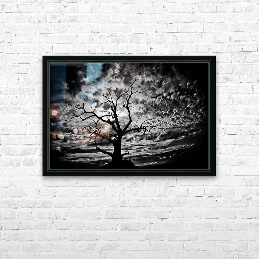 Spooky tree HD Sublimation Metal print with Decorating Float Frame (BOX)