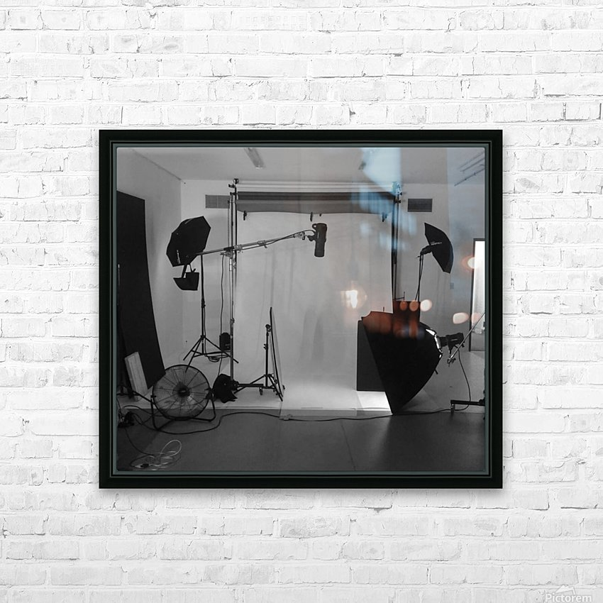 Black and White Studio HD Sublimation Metal print with Decorating Float Frame (BOX)