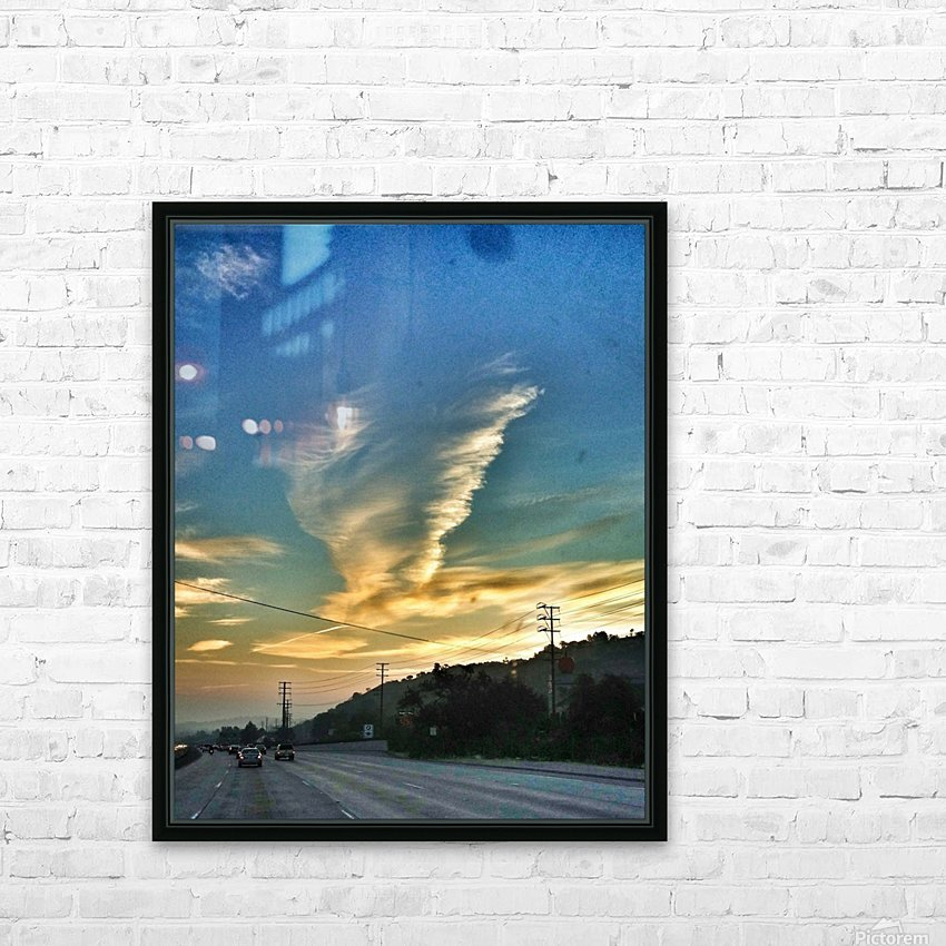 Cloud Whirlwind, California HD Sublimation Metal print with Decorating Float Frame (BOX)