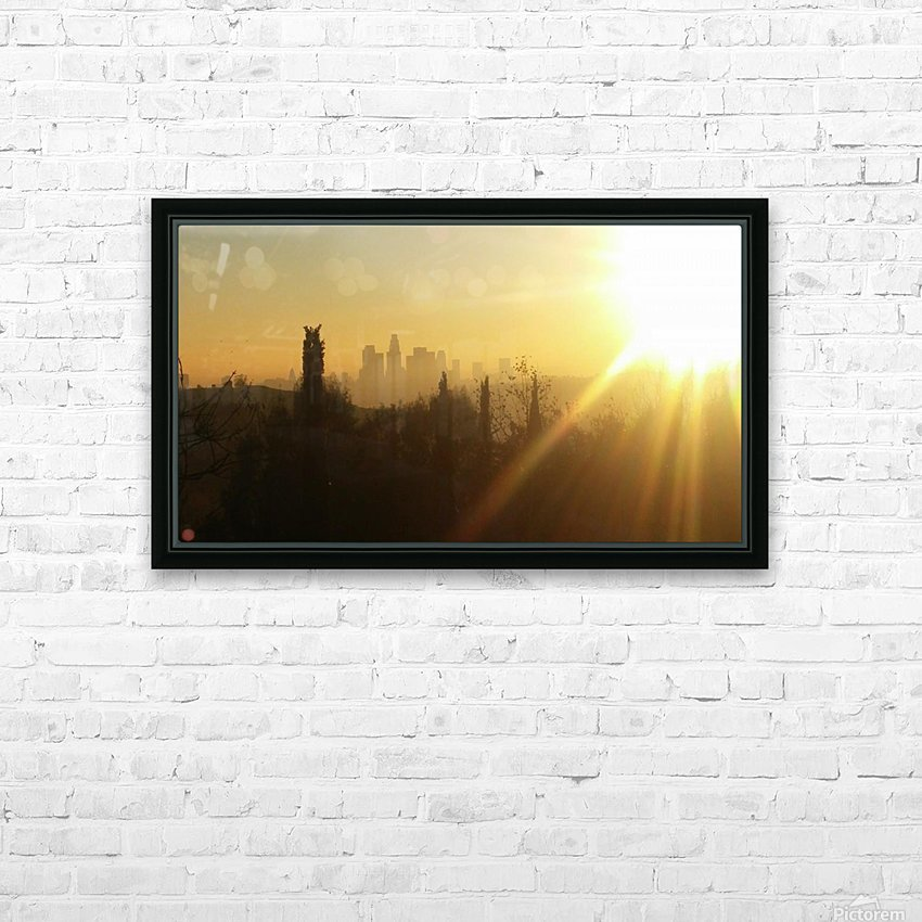 Los Angeles, Ca HD Sublimation Metal print with Decorating Float Frame (BOX)