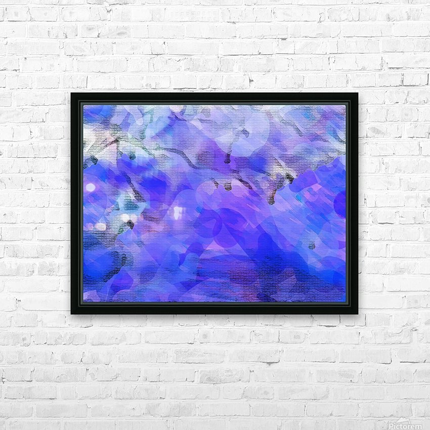 Textured Purple HD Sublimation Metal print with Decorating Float Frame (BOX)