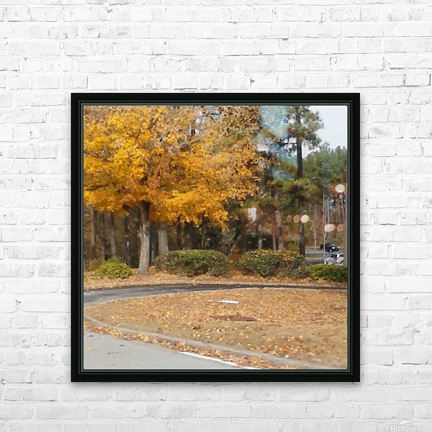 Georgia Fall HD Sublimation Metal print with Decorating Float Frame (BOX)