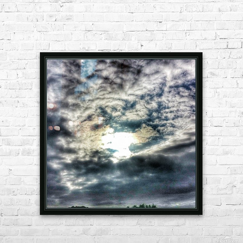 Sky City HD Sublimation Metal print with Decorating Float Frame (BOX)