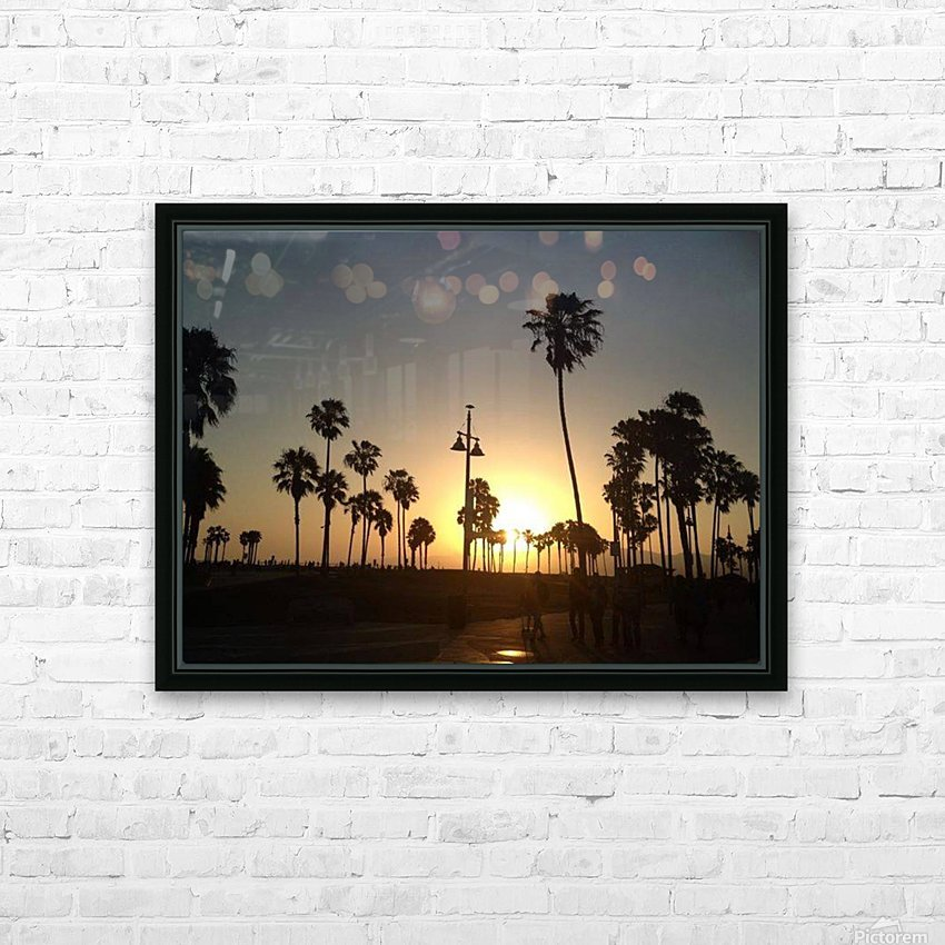 Venice Beach, California HD Sublimation Metal print with Decorating Float Frame (BOX)
