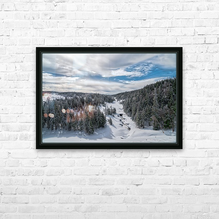 A Boreal Winter HD Sublimation Metal print with Decorating Float Frame (BOX)