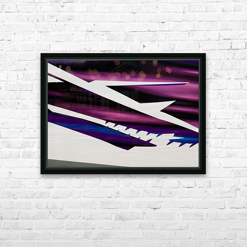 Purple HD Sublimation Metal print with Decorating Float Frame (BOX)