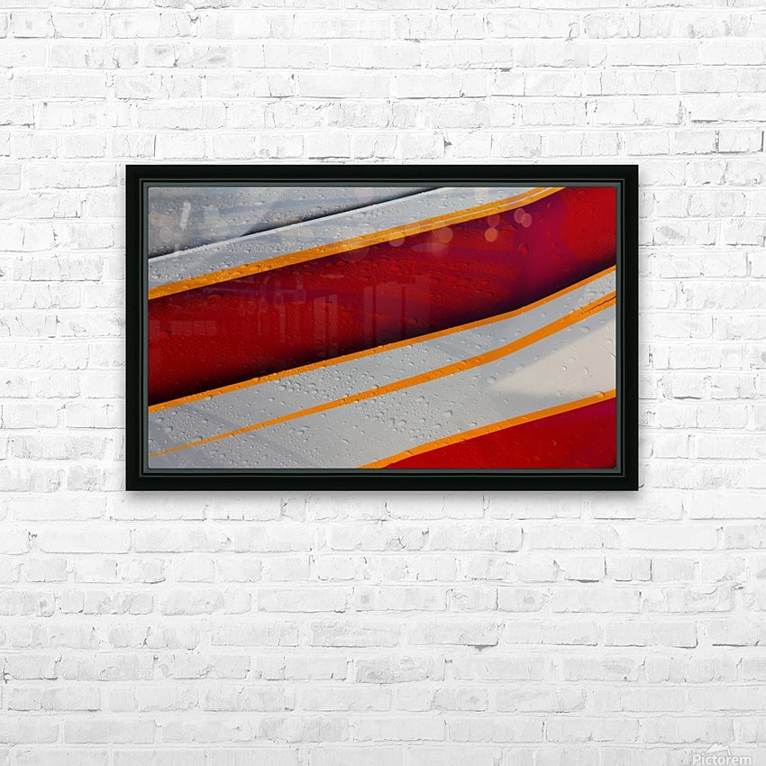 Droplets HD Sublimation Metal print with Decorating Float Frame (BOX)