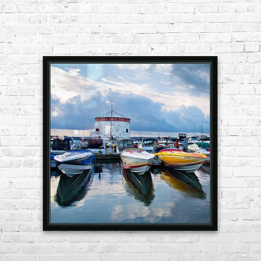 Dawn at the Marina HD Sublimation Metal print with Decorating Float Frame (BOX)