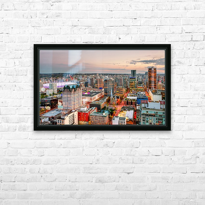 View from above the beautiful twilight in megalopolis HD Sublimation Metal print with Decorating Float Frame (BOX)