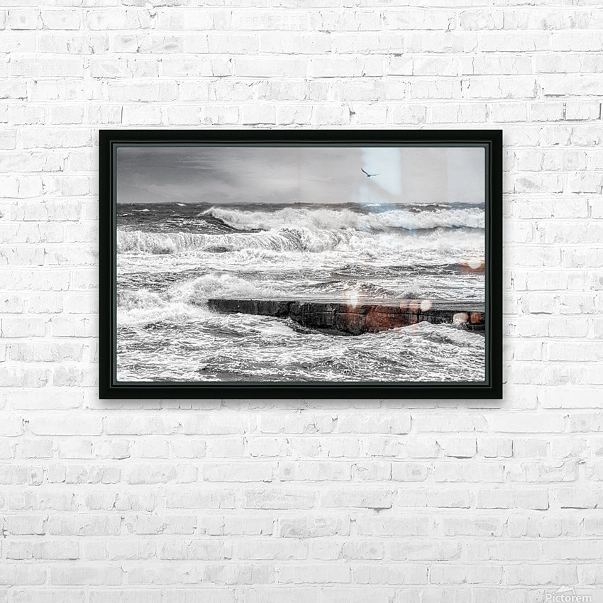 Stormy Seas HD Sublimation Metal print with Decorating Float Frame (BOX)