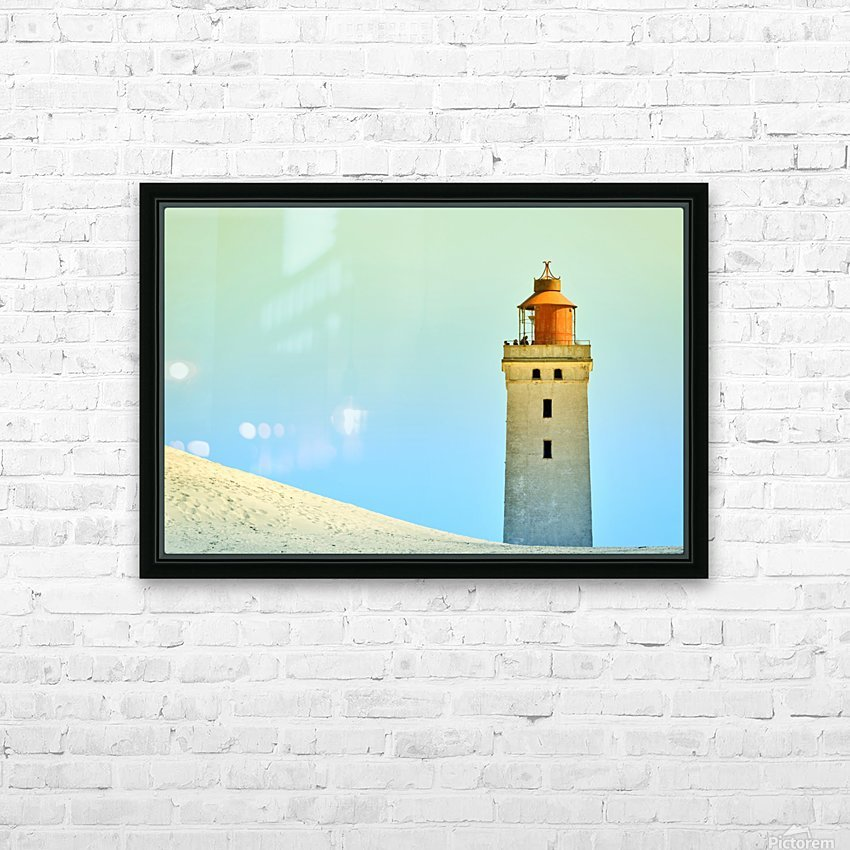 Lighthouse Rubjerg Knude HD Sublimation Metal print with Decorating Float Frame (BOX)