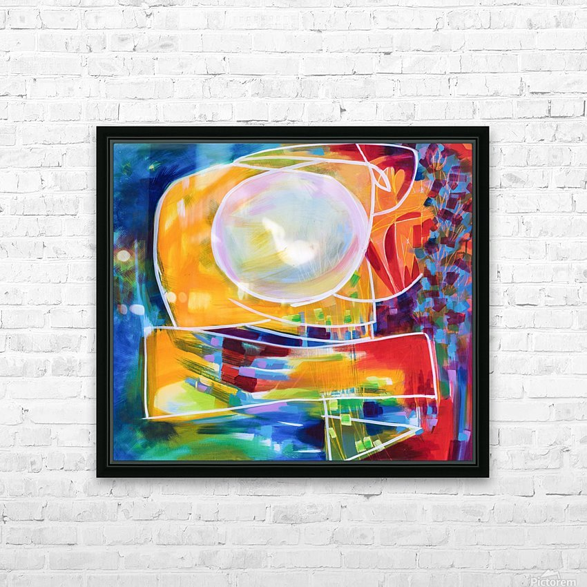 Moon Swoosh HD Sublimation Metal print with Decorating Float Frame (BOX)