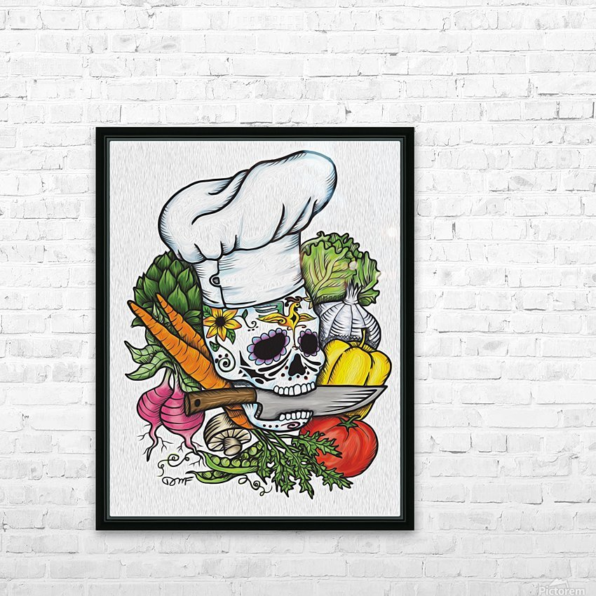 Dia de los Muertos Chef HD Sublimation Metal print with Decorating Float Frame (BOX)