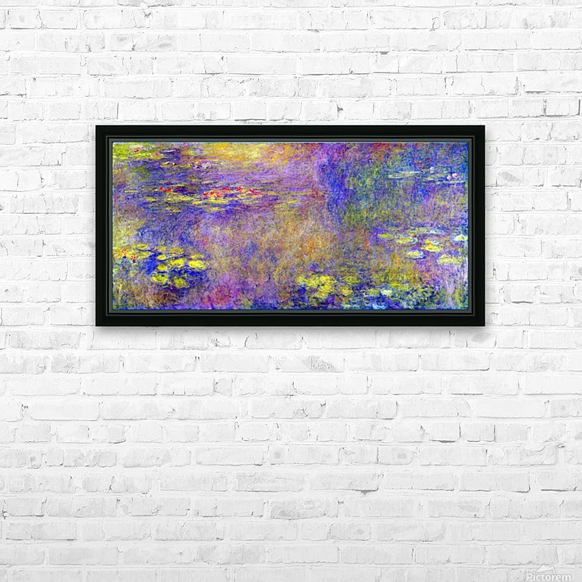 Water Lilies - (Yellow nirvana) by Monet HD Sublimation Metal print with Decorating Float Frame (BOX)